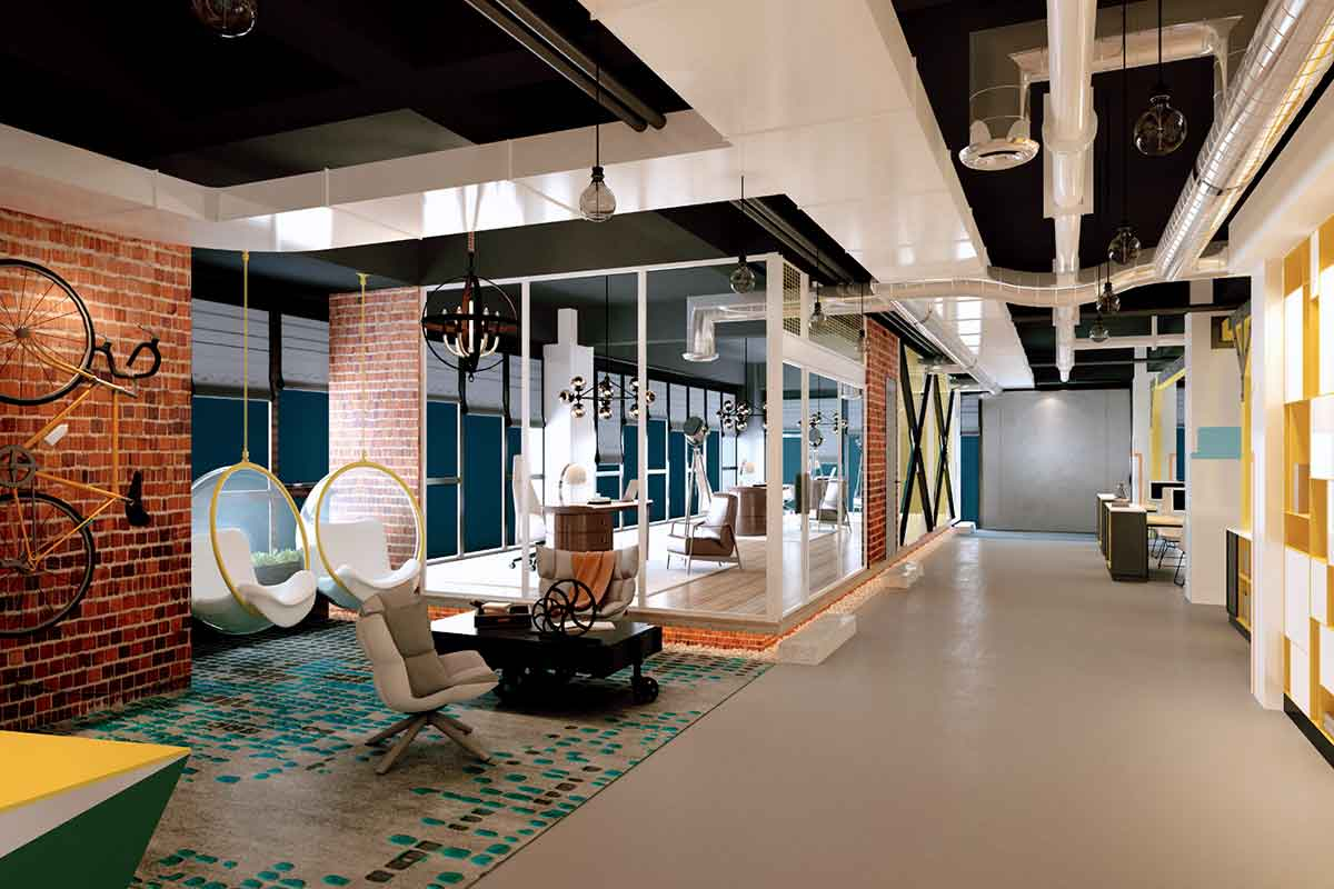Greeen singapore office interior design